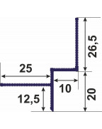 Профіль для тіньового шва 10 мм - АПТШ 10