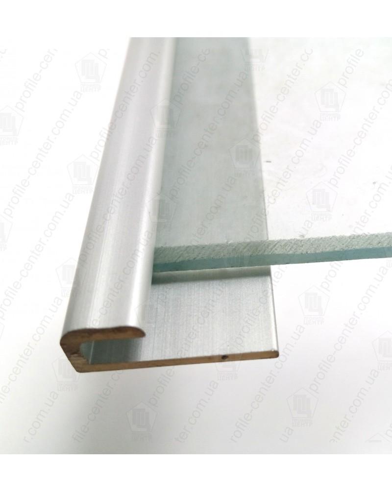 L-образный алюминиевый профиль. СУ 4 анод «серебро» 3.0м