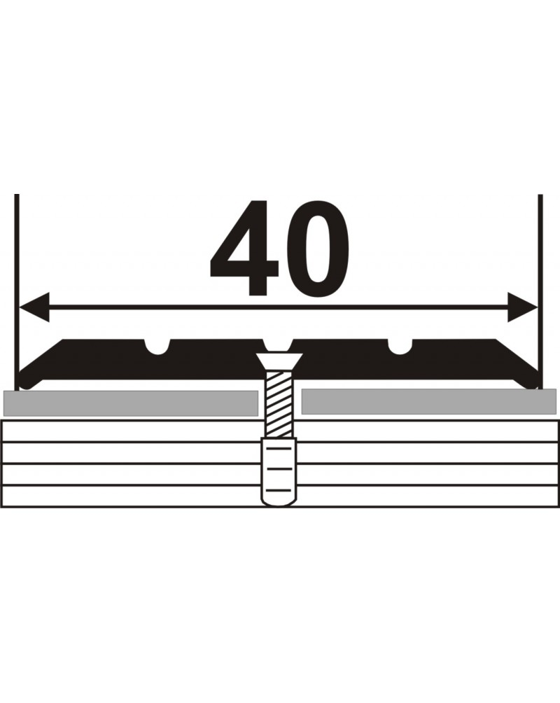 Л 002. Латунный порожек стыковочный, 40 мм. Длина 1.8 м