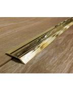 Л 014. Латунный порожек стыковочный, перепад 5 мм. Длина 2.7 м