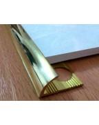 НЛП 12. Латунный наружный угол для плитки. Длина 2.5 м