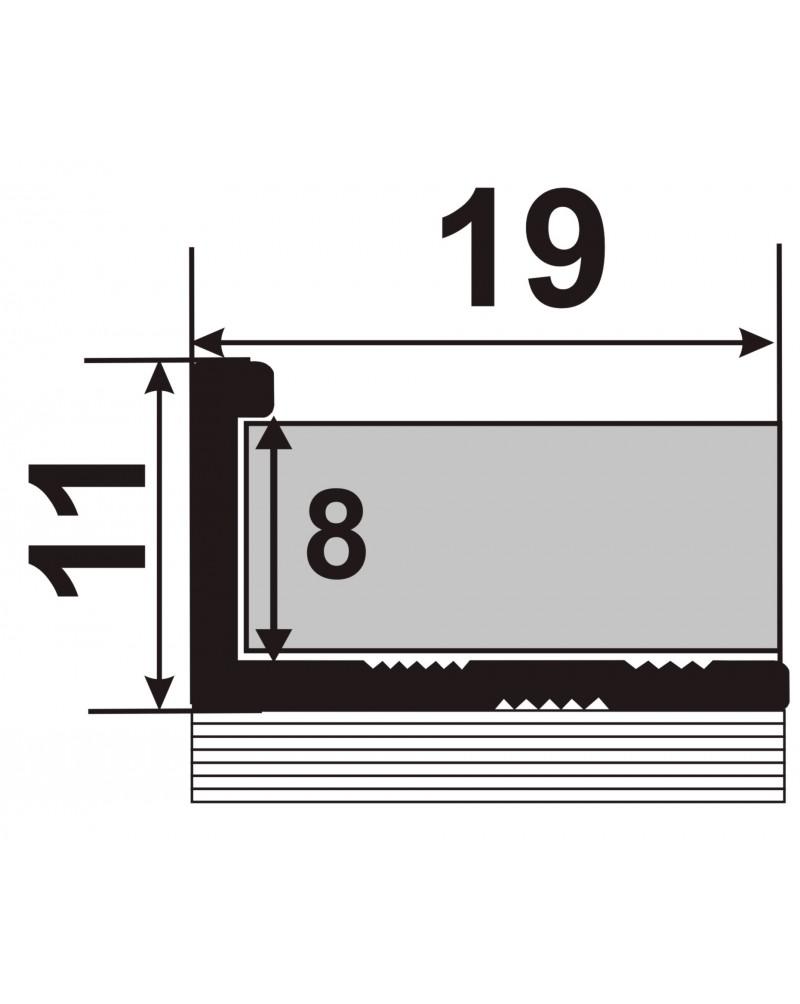 ЛПГ 10. Латунный Гибкий торцевой профиль для плитки. Длина 2.5 м