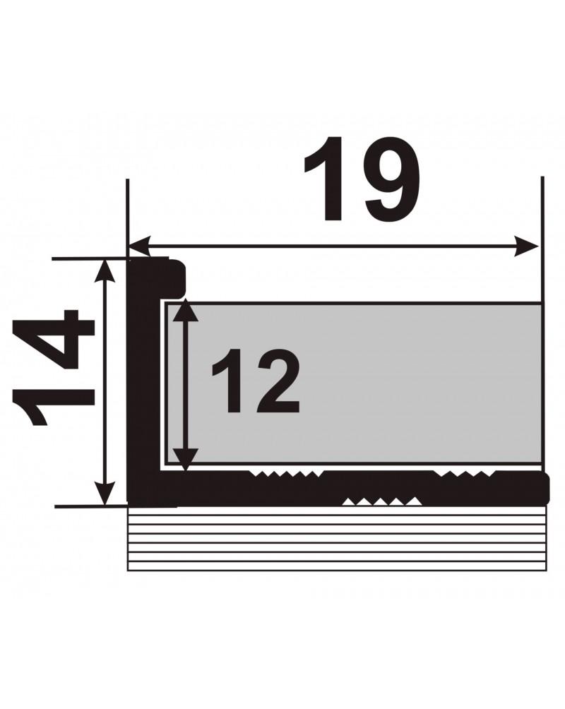 ЛПГ 12. Латунный Гибкий торцевой профиль для плитки. Длина 2.5 м