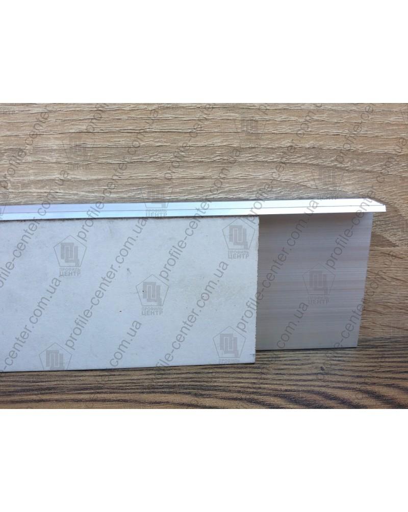 Алюминиевый плинтус скрытого монтажа BEST DEAL 2/83 крашеный Графит