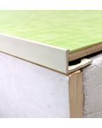 Алюмінієвий Г-профіль для плитки до 8мм. АП 10 «Білий» 2.7м