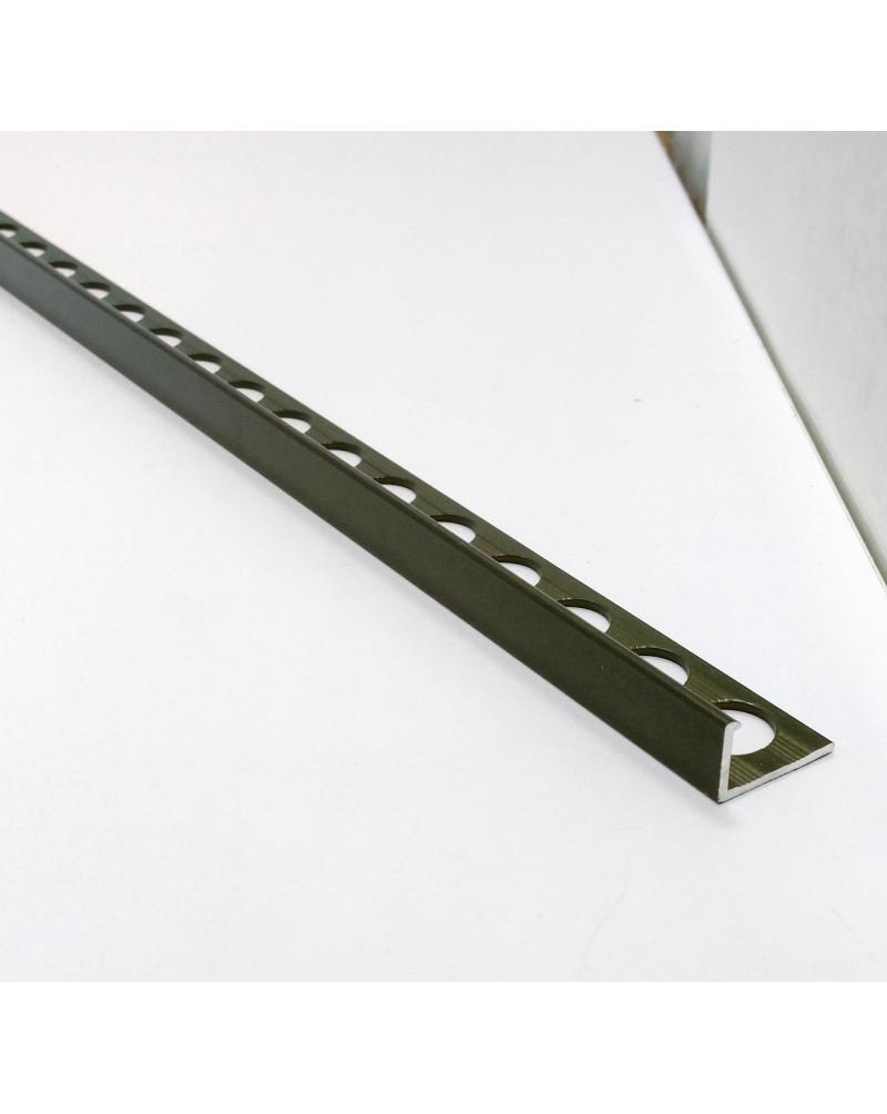 Алюмінієвий Г-профіль для плитки до 8мм. АП 10 «Бронза оливка» 2.7м