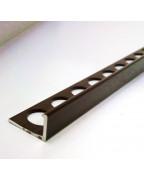 Алюмінієвий Г-профіль для плитки до 8мм. АП 10 «Шоколад» 2.7м