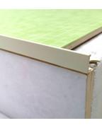 Алюминиевый Г-профиль для плитки до 8мм. АП 10 «Слоновая кость» 2.7м