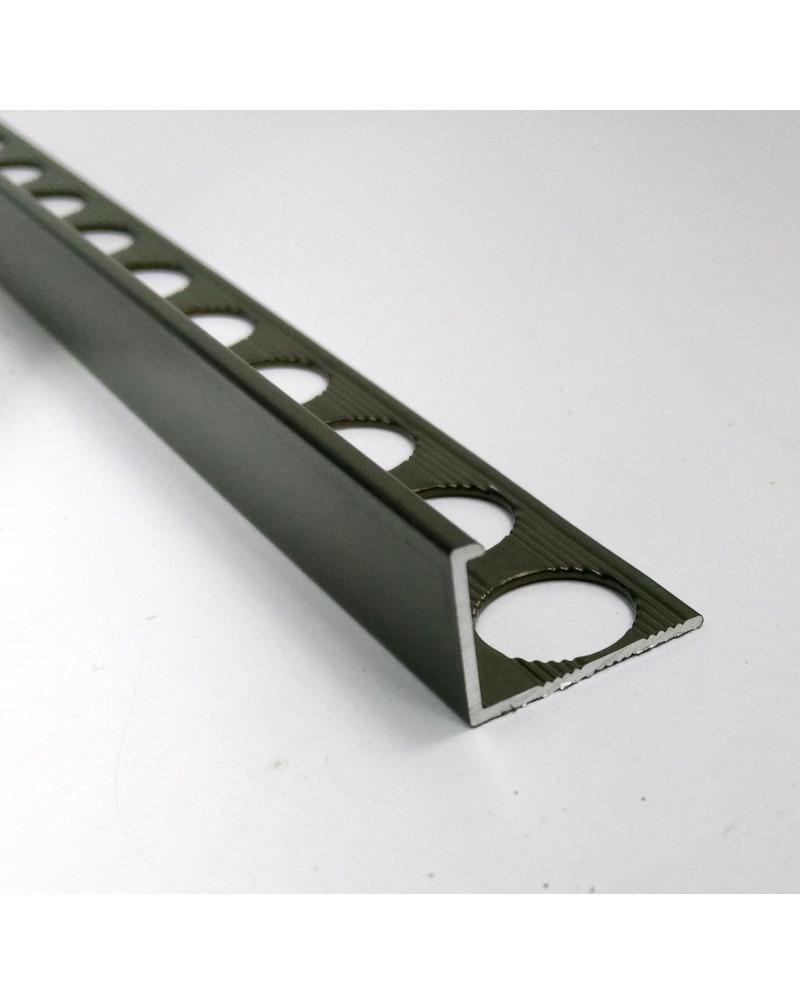 Алюминиевый Г-профиль для плитки до 12мм. АП 12 «Бронза оливка» 2.7м