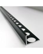 Алюмінієвий Г-профіль для плитки до 12мм. АП 12 фарбований «Чорний» 2.7м