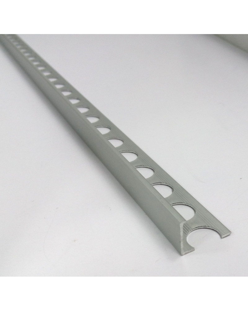 Алюмінієвий Г-профіль для плитки до 12мм. АП 12 анод «срібло» 2.7м