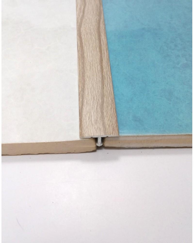 Алюминиевый Т-образный порожек. Декор «под дерево». АТ 18 акация серая 2.7м