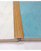 Алюминиевый Т-образный порожек. Декор «под дерево». АТ 18 дуб рустик 2.7м