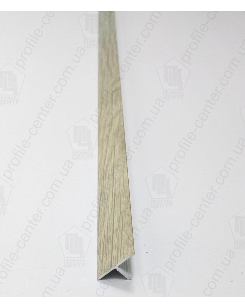 Алюминиевый Т-образный порожек. Декор «под дерево». АТ 18 дуб серый 2.7м
