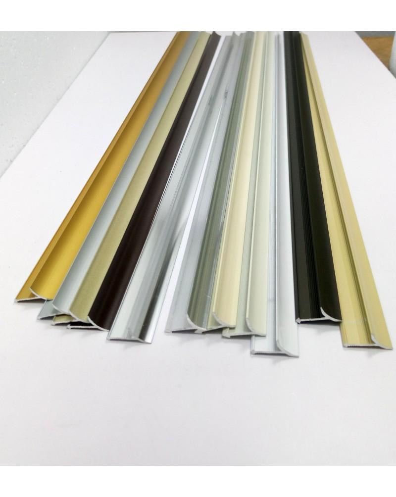Алюмінієвий універсальний внутрішній кут для плитки. АВП анод «золото» 2.7м