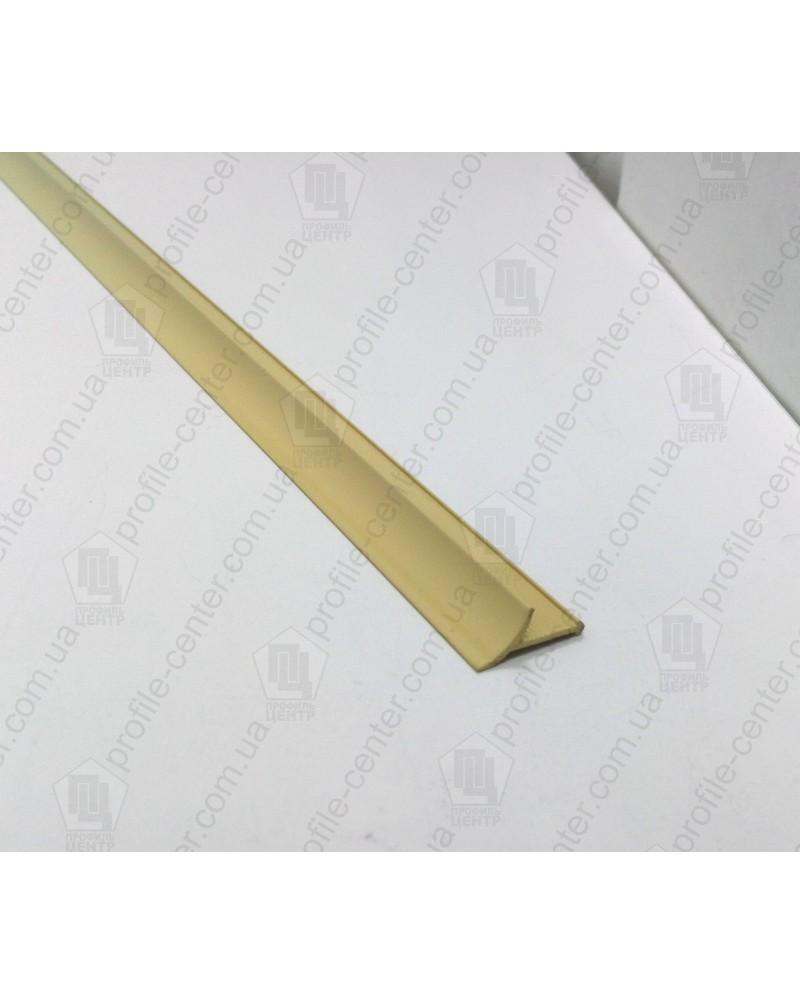 Алюминиевый универсальный внутренний угол для плитки. АВП цвет «Капучино» 2.7м