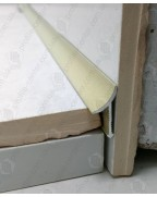 Алюмінієвий універсальний внутрішній кут для плитки. АВП цвет «Песок» 2.7м