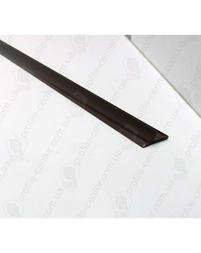 Алюминиевый универсальный внутренний угол для плитки. АВП цвет «Шоколад» 2.7м