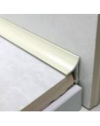 Алюмінієвий універсальний внутрішній кут для плитки. АВП цвет «Слонова кістка» 2.7м