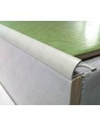 Наружный алюминиевый угол для плитки до 10мм. Крашенный. НАП 10 Белый матовый 2.7м
