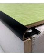 Зовнішній алюмінієвий кут для плитки до 10мм. Фарбований. НАП 10 Чорний матовий 2.7м