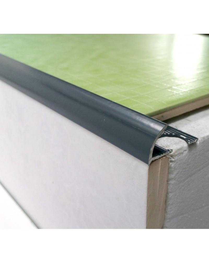 Наружный алюминиевый угол для плитки до 10мм. Крашенный. НАП 10 Графит2.7м