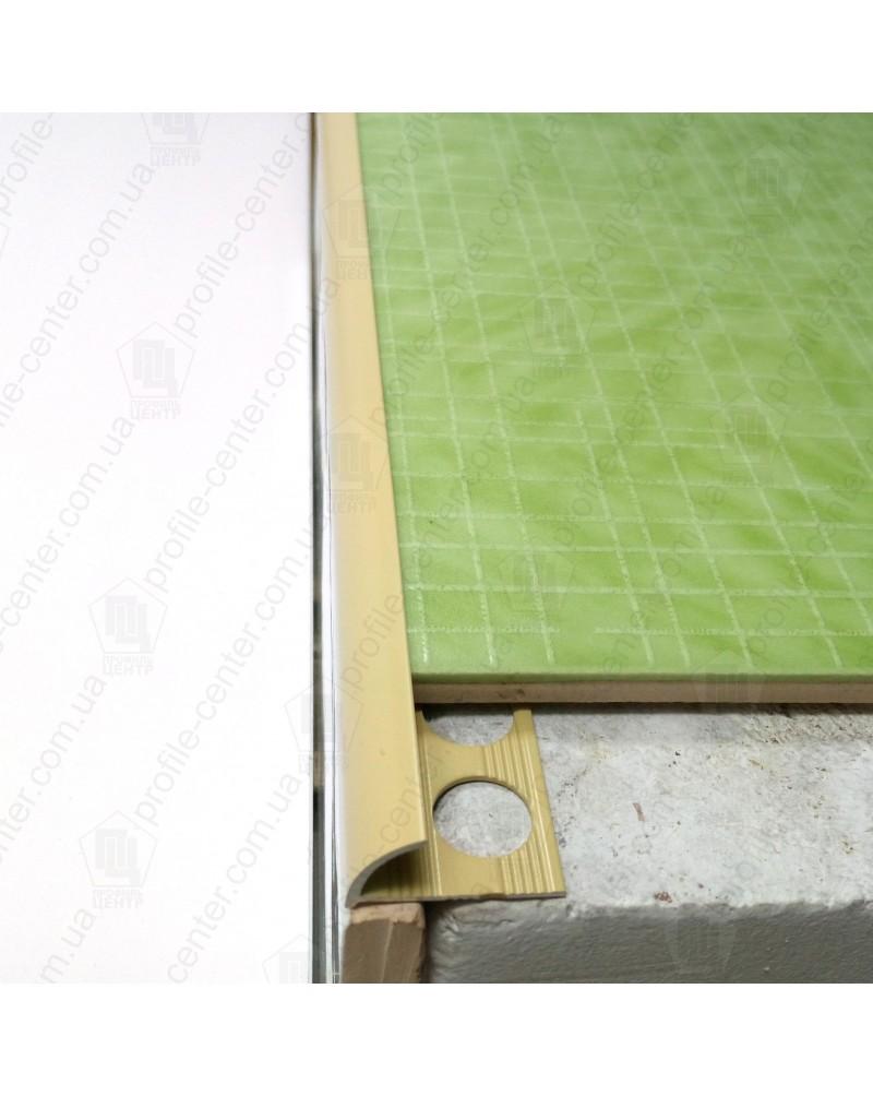 Зовнішній алюмінієвий кут для плитки до 10мм. Фарбований. НАП 10 Капучино 2.7м