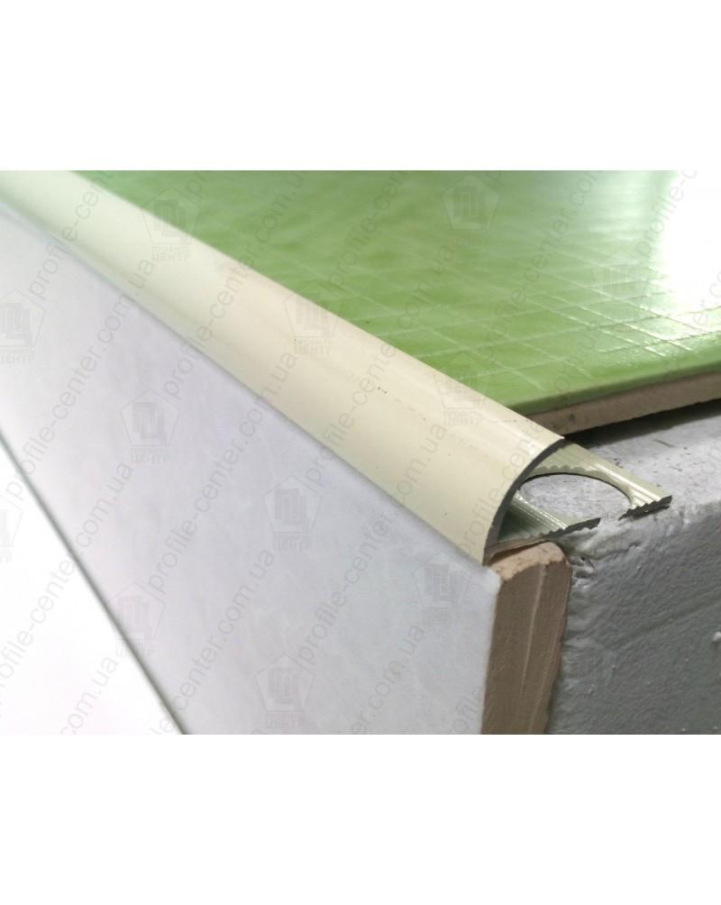 Наружный алюминиевый угол для плитки до 10мм. Крашенный. НАП 10 Слоновая кость 2.7м