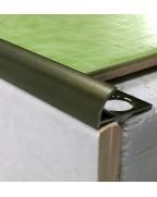 Наружный алюминиевый угол для плитки до 10мм. Крашенный. НАП 10 Бронза оливка 2.7м