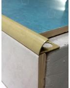 Зовнішній алюмінієвий куточок для плитки до 12мм. Фарбований. НАП 12 песок 2.7м