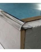 Зовнішній алюмінієвий куточок для плитки до 12мм НАП 12 полірований 2.7м