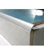 Наружный алюминиевый уголок для плитки до 12мм. НАП 12 анод «серебро» 2.7м