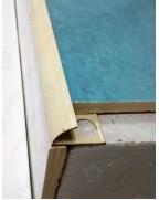 Зовнішній алюмінієвий кут для плитки до 12мм. Фарбований. НАП 12 Слонова кістка 2.7м