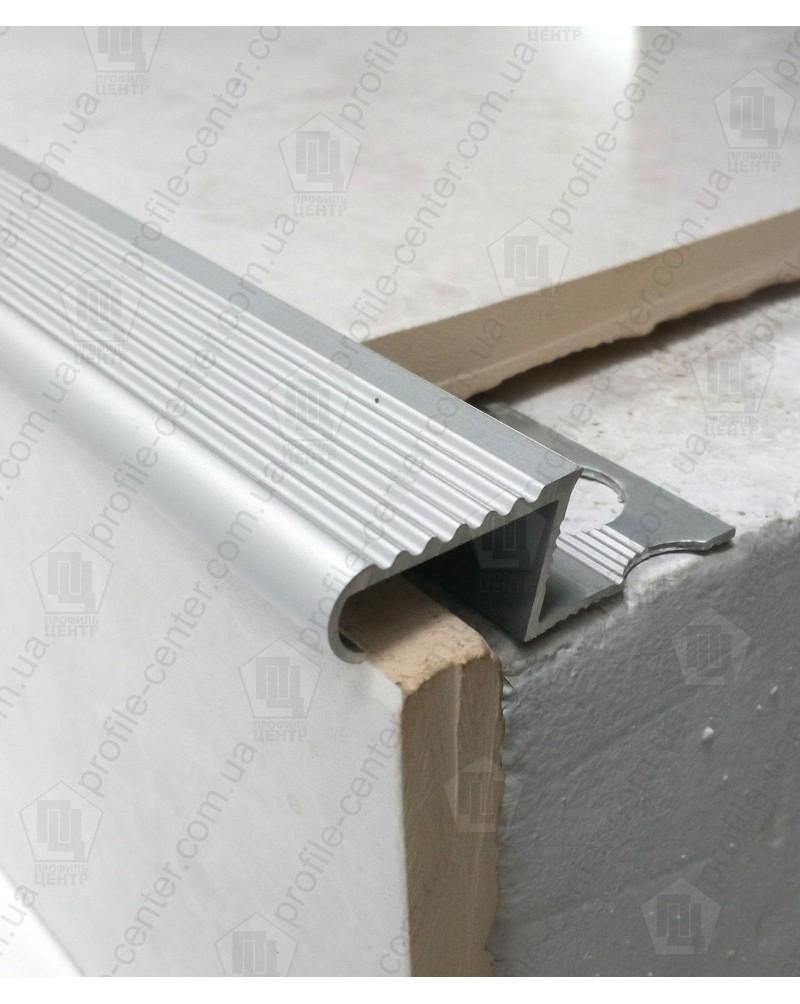 Алюмінієвий Z-подібний профіль для плитки до 12 мм. ПЛ 209 без покриття 2.7м