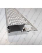 Алюмінієвий Z-подібний профіль для плитки до 12 мм. ПЛ 209 анод «срібло» 2.7м