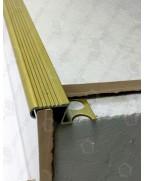 Алюмінієвий Z-подібний профіль для плитки до 12 мм. ПЛ 209 фарбований «золото» 2.7м