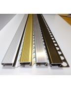 Алюминиевый Z-образный профиль для плитки до 10 мм. ПЛ 210 анод «золото» 2.7м