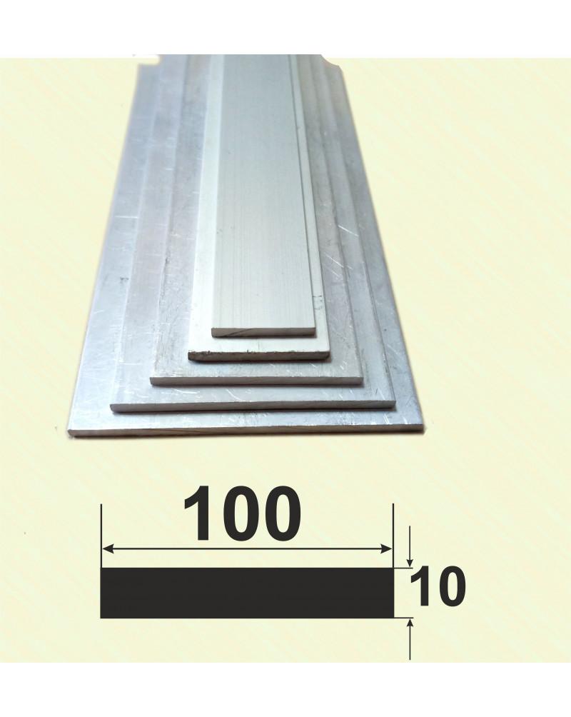 100*10. Алюмінієва смуга, без покриття 3,0 м.