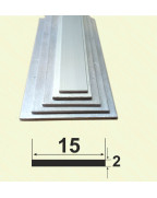 15*2. Алюмінієва смуга, без покриття 3,0 м.