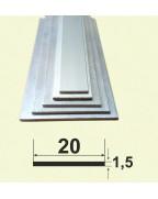 20*1,5. Алюмінієва смуга, анод «срібло» 3,0 м.