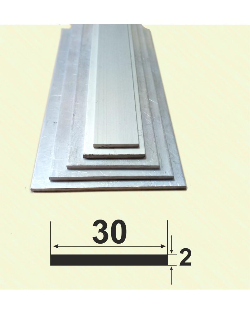 30*2. Алюминиевая полоса, анод «Серебро»