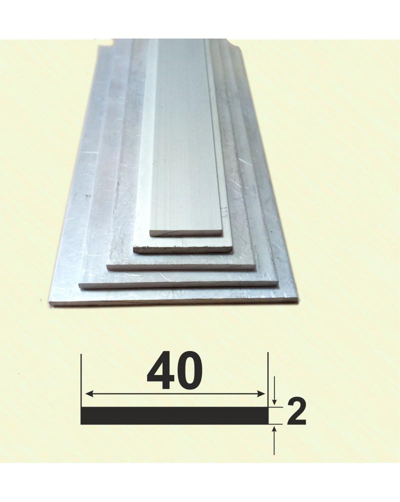 40*2. Алюмінієва смуга, без покриття