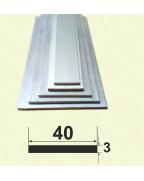40*3. Алюмінієва смуга, без покриття 3,0 м.