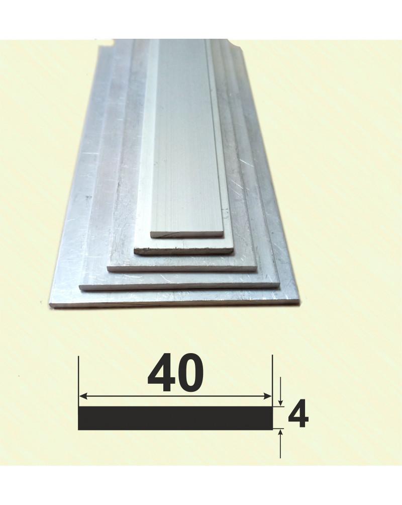 40*4. Алюмінієва смуга, без покриття 3,0 м.