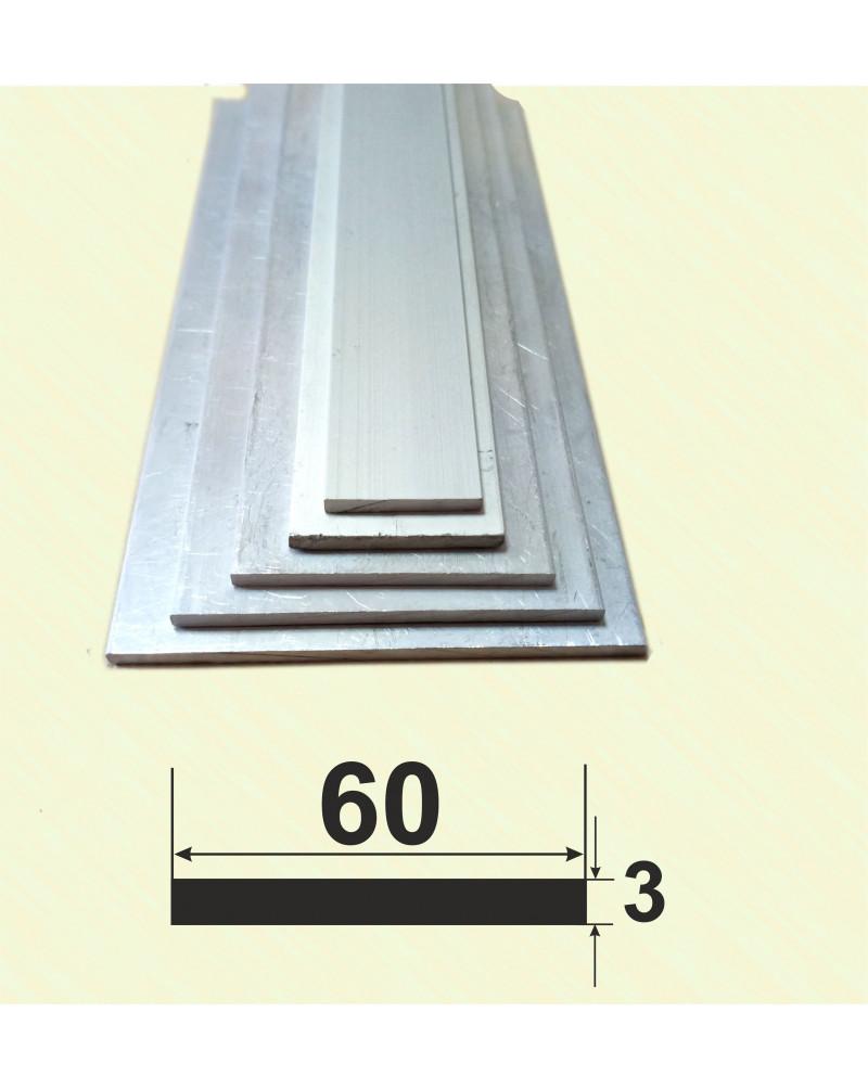 60*3. Алюмінієва смуга, без покриття 3,0 м.