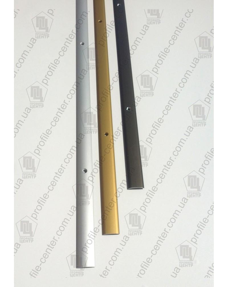 Алюминиевый порожек стыковочный АП 001 бронза 2.7м, ширина 20 мм
