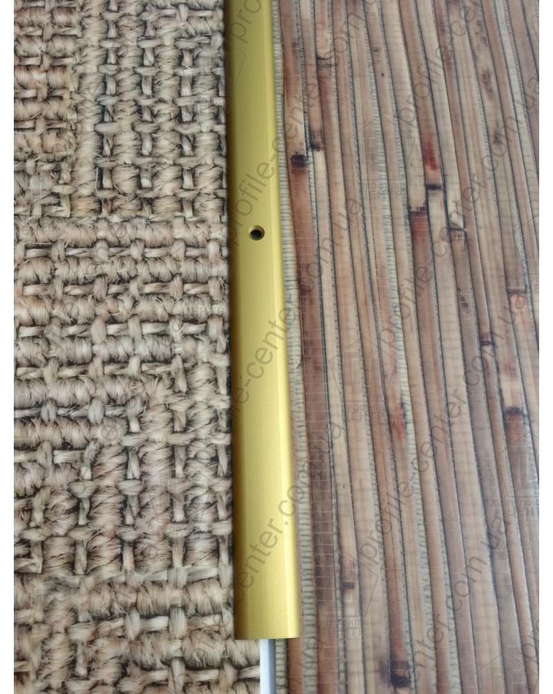 Алюминиевый порожек стыковочный АП 001 золото 1.8м, ширина 20 мм