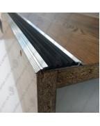 Алюминиевый порожек с резиновой вставкой УЛ 150 БП 1,0м