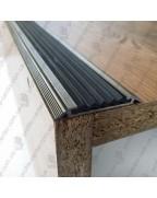 Алюминиевый порожек с резиновой вставкой УЛ 150 бронза оливка 2,0м