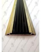 Алюминиевый порожек с резиновой вставкой УЛ 150 золото металлик 3,0м